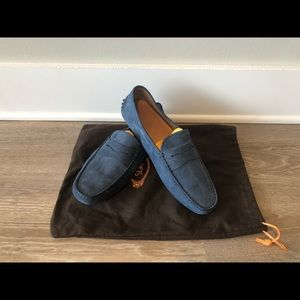 TOD'S Captain Blue Gommino Moccassins - Size 8